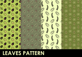 Patrón de hojas libres Vector