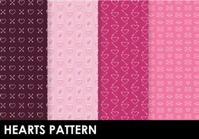 Vetor de padrões de corações livres