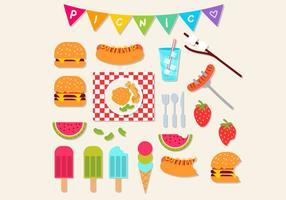 Picknick icon set