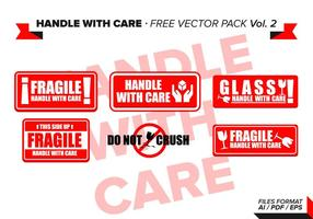 Maneggiare con cura Free Vector Pack Vol. 2