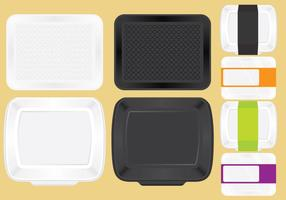 Food Trays For Lunch vector