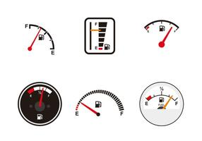 Verschillende brandstofmetervectoren