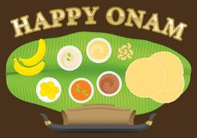 Happy Onam vector