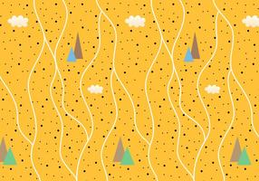 Abstract Mountain Pattern Vector