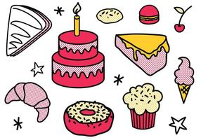 Vecteurs de desserts gratuits