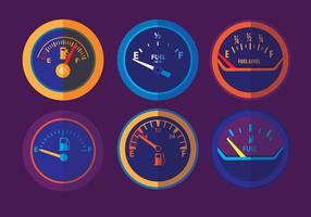Vectores de indicador de combustible