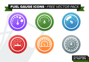 Fuel Gauge Icons Free Vector Pack