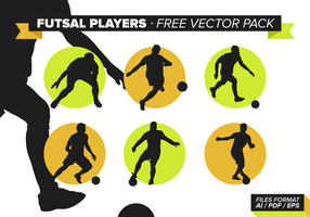 Futsal Spelare Gratis Vector Pack