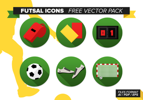 Ícones Futsal Pacote de vetores grátis