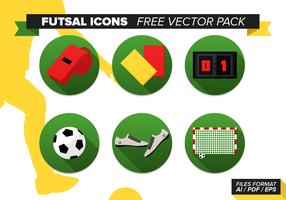 Iconos de Fútbol Sala Pack Vector Libre