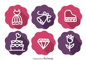 Mariage Long Shadow Icons
