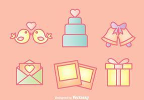 Conjunto de iconos de boda