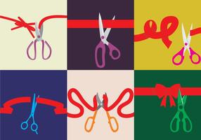 Various Ribbons Cutting Vectors