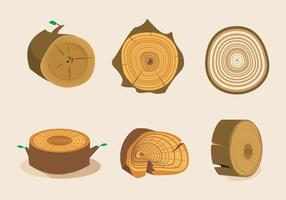 Anillos De Los árboles Textura Vector