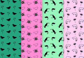 Tropical Pattern Vector gratuito