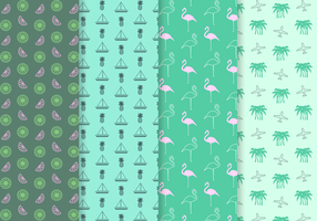 Free Tropical Pattern Vektor
