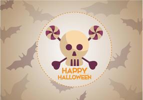 Vecteur halloween gratuit de chauve-souris de crâne