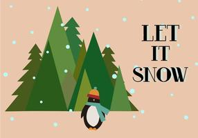 Gratis Let It Snow Vector