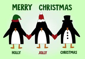 Penguin Christmas Vector gratuito