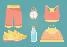 Fitness Accessories Vector Illustration