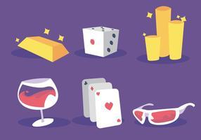 Spela kort tillbaka vektoruppsättning