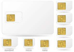 Sim Card Microchip Vectores
