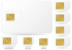 Sim-Karten-Mikrochip-Vektoren