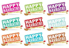 Navratri Titles vector