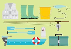 Vector visserij artikelen