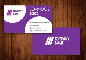 Creative Purple Business Cards vector