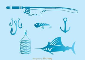 Iconos de herramientas de pesca