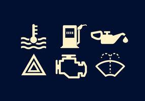 Vector conjunto de signos del tablero de instrumentos del coche