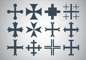Vettore gratuito croce maltese