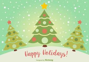 Happy Holidays Christmas Postcard vector