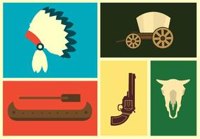 Wild West Vector Pictogrammen