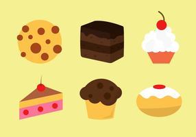 Iconos vectoriales de panadería
