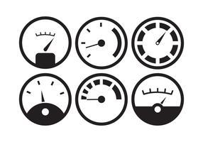 Conjunto de vetores do indicador de combustível