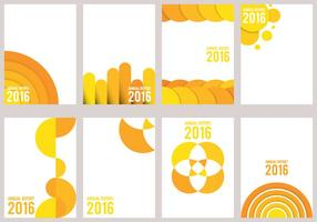 Yellow Annual Report Design vector