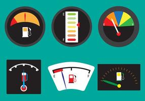 Vector Set di indicatori di carburante