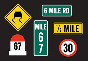 Vetores do sinal de estrada