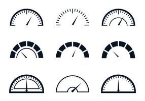 Fuel Gauge Meter vector
