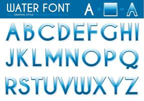 Free Water Font Vector