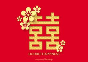 Free Double Happiness Vector Design