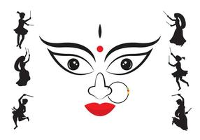 Vector Illustration of Navratri