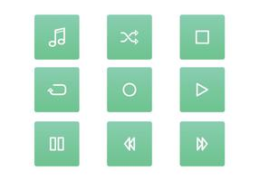 FREE MUSIC PLAYER ICON SET VECTOR