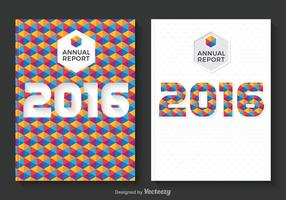 Free Annual Report Design Vector