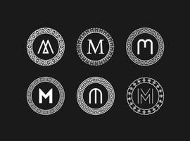 Vecteur gratuit de monogrammes abstraits