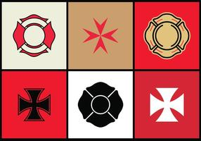 Maltese Cross Vector Set