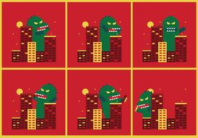 Godzilla Vector Illustrations