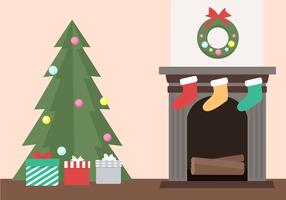 Gratis julgran vektor
